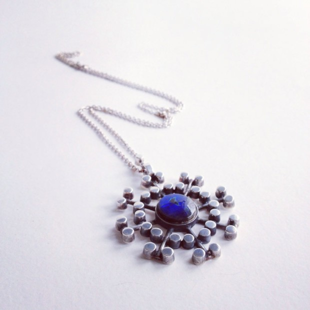 Vintage Scandinavian Snowflake necklace