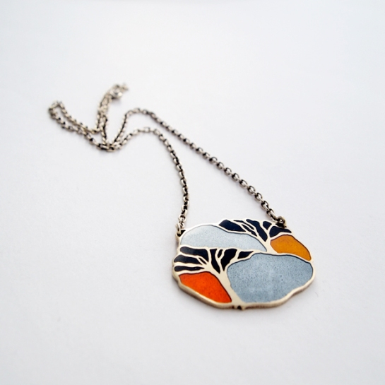 Anton Michelsen Enamel Scandinavian necklace