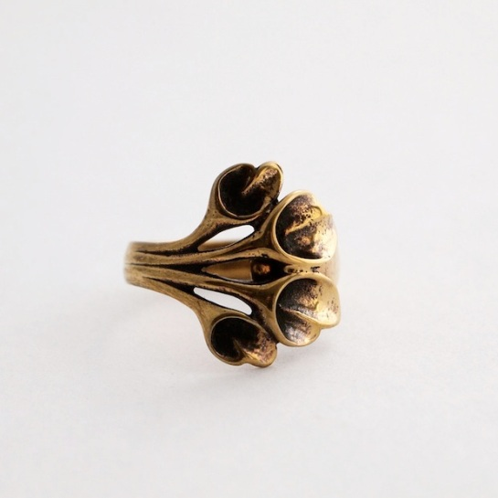 vintage bronze hannu ikonen ring
