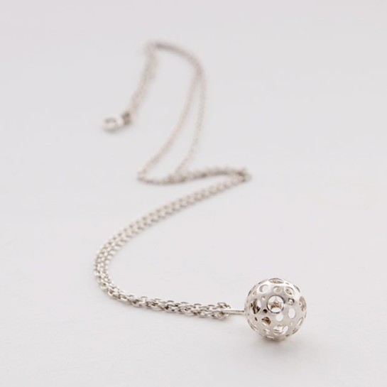 silver liisa vitali necklace