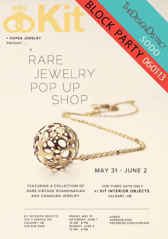 jewelry trunk show poster