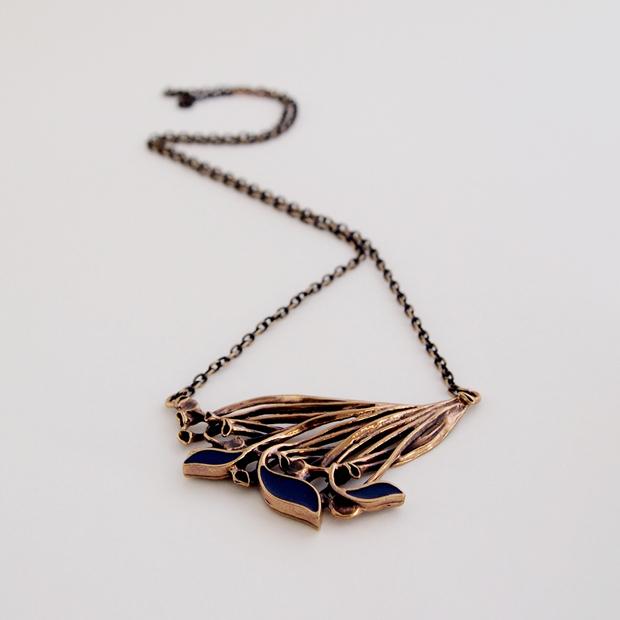 hannu ikonen bronze necklace