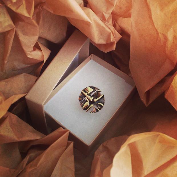bronze jorma laine ring