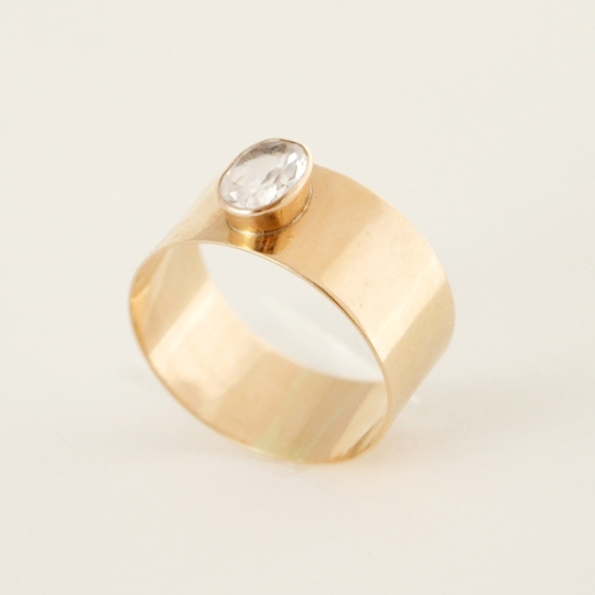 vintage scandinavian gold ring