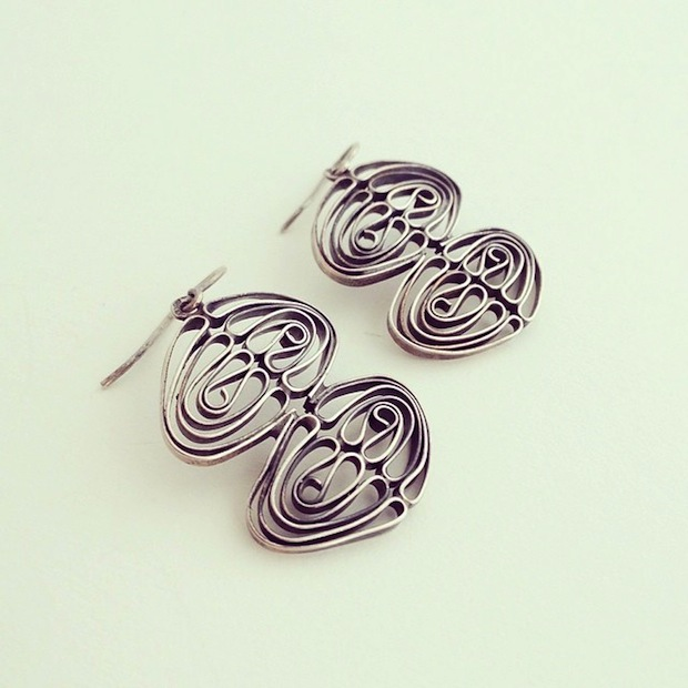 liisa vitali silver earrings