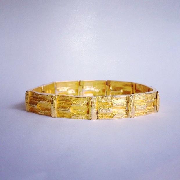 bjorn weckstrom lapponia gold bracelet