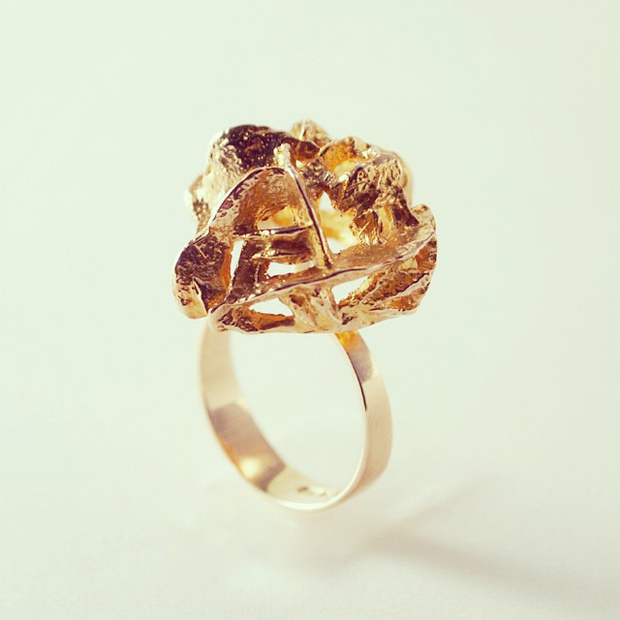 gold bjorn weckstrom ring